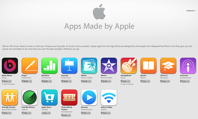 applications Apple sur iPhone